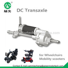 dc motor transaxle for electrical mobility scooter traction