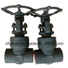 Válvula de puerta de sello de presión de acero al carbono o acero inoxidable forjado