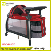 Manufacturer NEW Safety Baby Playpen Double Layer with Mattress Canopy with Toys 3 Layer Storage Shelf