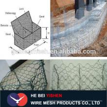 Malla de alambre galvanizado para valla con piedras