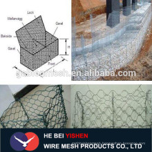Galvanized wire mesh for fence with stones