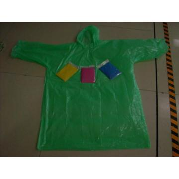 one-time PE raincoat without buttons