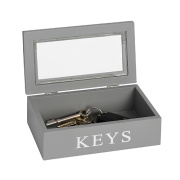 Grey glass key box