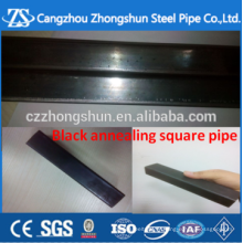 Recuit noir 25 * tube carré de 1,5 mm et acier rectangulaire et tuyau