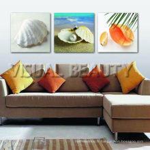 Impression sur toile de coquillage de plage / Impression de toile de plage / Impression de toile de coucher de soleil de plage
