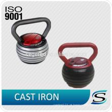 2014 hot sales ferro fundido personalizado kettlebell