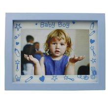 Baby 4x6inch Blue Plastic Photo Frame For Boy