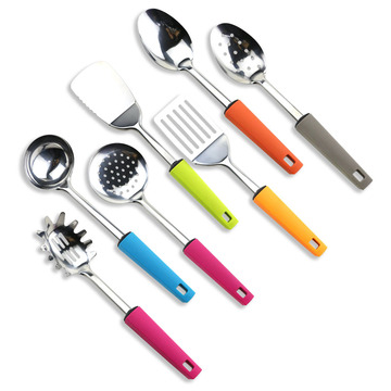 Stainless Steeel Colorful Cooking Utensil Set av 7st