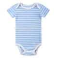 En gros Biologique Coton Stripe Bleu Vert Couleur Bébé Sequin Barboteuses Bébé Vêtements De Noël Barboteuse