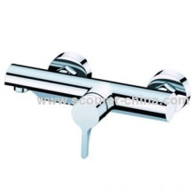 Wall Mounted Exposed Shower Faucet With Chrome Plating