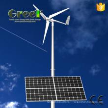 Système hybride solaire de vent horizontal et Vertical avec Ce