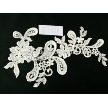 High quality fashion stretch white flower wedding dress lace guipure swiss voile lace