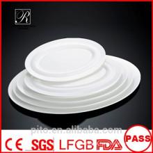 P & T fábrica de cerâmica, placas de carne de porcelana, placas ovais, placas de servir