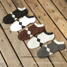 Meia de algodão acolhedor moda de tornozelo de homem