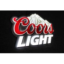Coorslight acrylic 3D lightsign