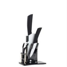 Керамический набор ножей и акриловый блок