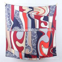 Écharpe yiwu imprimée en soie pure de 2014 New Design