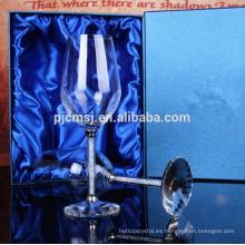 taza de cristal K9 transparente de alta calidad con diamante