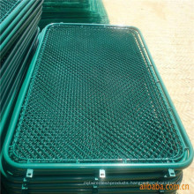 PVC Coated Chain Link Fence Gate Panel