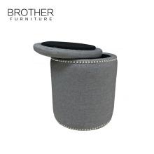 Cylinder Ottoman Chair Footstool Modern Ottoman Storage