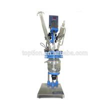Reactor de vidrio 5L con venta caliente de doble chaqueta en Corea TOPT-5L