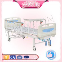 Manual aluminium railing hospital bed with two functions