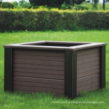 High Quanlity Composto plástico de madeira / WPC Flower Box610 * 610 * 407