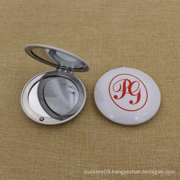 Cheapest Metal Aluminium Round Makeup/Compact/Pocket/Cosmetic Mirror with Custom Logo