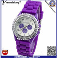 Yxl-318 Crazy Seller Wholesale Cheapest Geneva Brand Jelly Watch Candy Colors Ladies Quatch Geneva Fashion Silicone Watch Factory