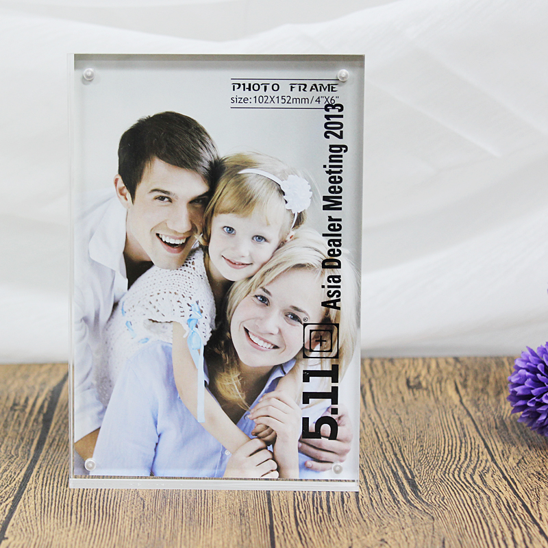 Plexiglass Acrylic Double Sided Photo Frame