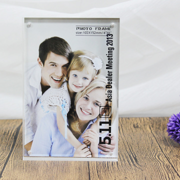 Plexiglass Acrylic Double Photo Frame Bingkai