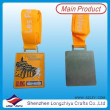 Francia Medalla de diseño personalizado Medalla de metal de deporte Medallas de honor Premio Medalla de rectángulo