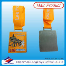 France Custom Design Medal Sport Metal Running Medals of Honor Award Rectangle Medal
