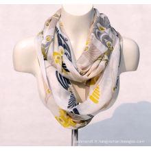 Impression de bambou des femmes printemps automne été tissé plage couverture châle foulard boucle snood (SW126)