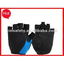Color medio dedo guantes de levantamiento de pesas para gimnasio