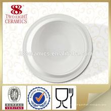 Keramisches einfaches weißes billiges Porzellangeschirrplatten-wirkliche Porzellangerichte