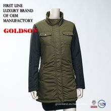 Chaqueta de relleno elegante de resorte de las niñas de Rusia Casual Slim Fit Jacket