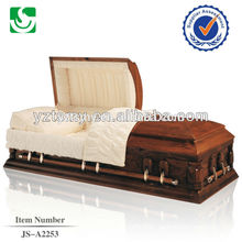 Unique American high standard supply cheap wooden casket