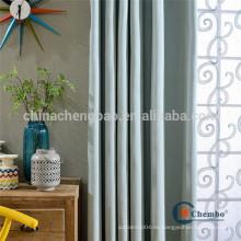 Plain teñido patrón hecho cortinas para hotel