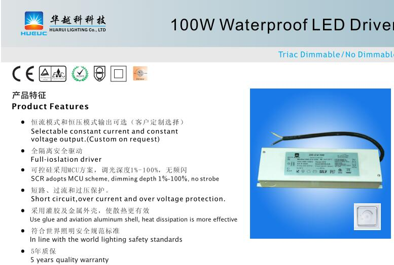 UL led power supply