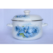two side decal carbon steel enamel coating high quality cookware pot & big body pot