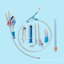 Catéter de hemodiálisis desechable de uno, dos o tres lúmenes