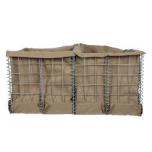 Material de alambre de hierro galvanizado pared de arena hesco