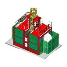 2 ton double cages construction hoist electric building hoist with lift parts