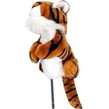 Tampa da cabeça de madeira do motorista animal do golfe do tigre
