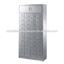 Armário de armazenamento médico de aço inoxidável