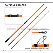 en Stock 22,5 Diamètre Butt Action rapide Carbon Surf Casting canne à pêche