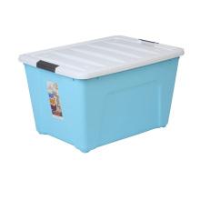 Recipiente de caixa de armazenamento de plástico com bloqueio para casa
