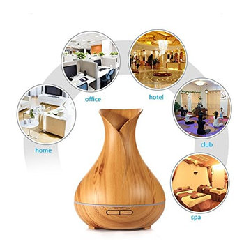 400ml Wood Aromatherapy Essential Oil Diffuser
