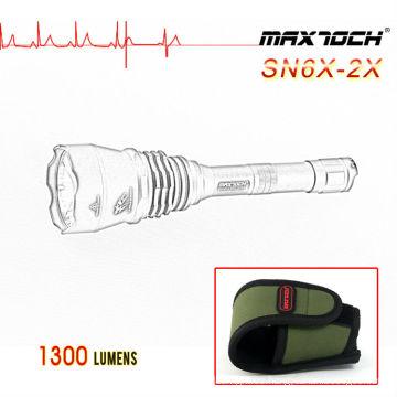 Maxtoch SN6X-2X 1300lm Disparos Cree XML-2 linterna